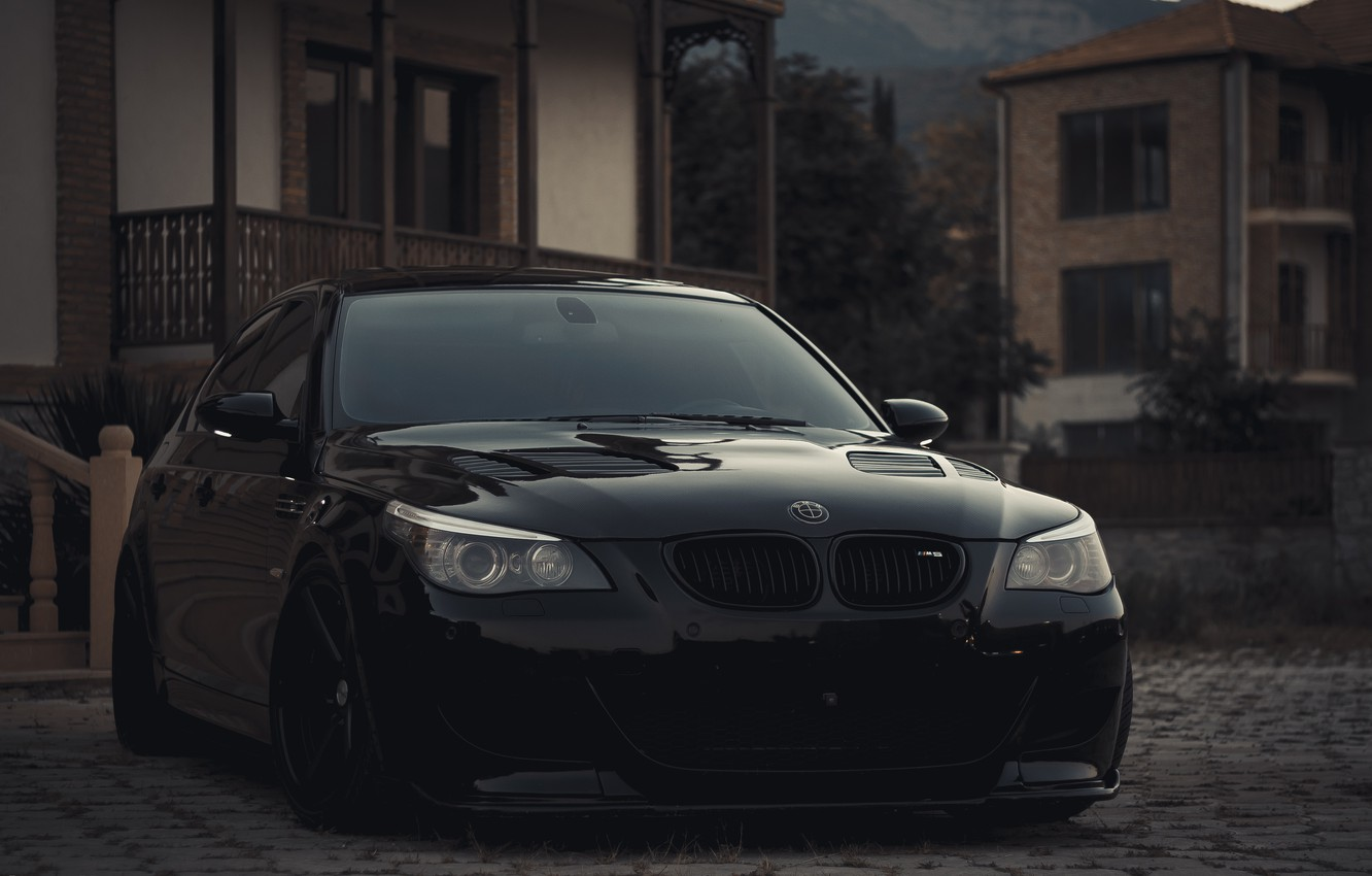 Photo wallpaper BMW, V10, E60, Atmo