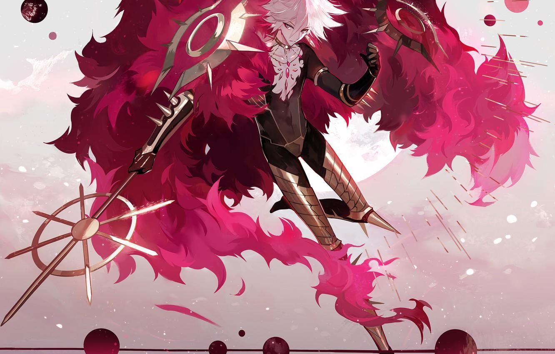 Photo wallpaper anime, art, guy, Fate/Grand Order, Red Lancer