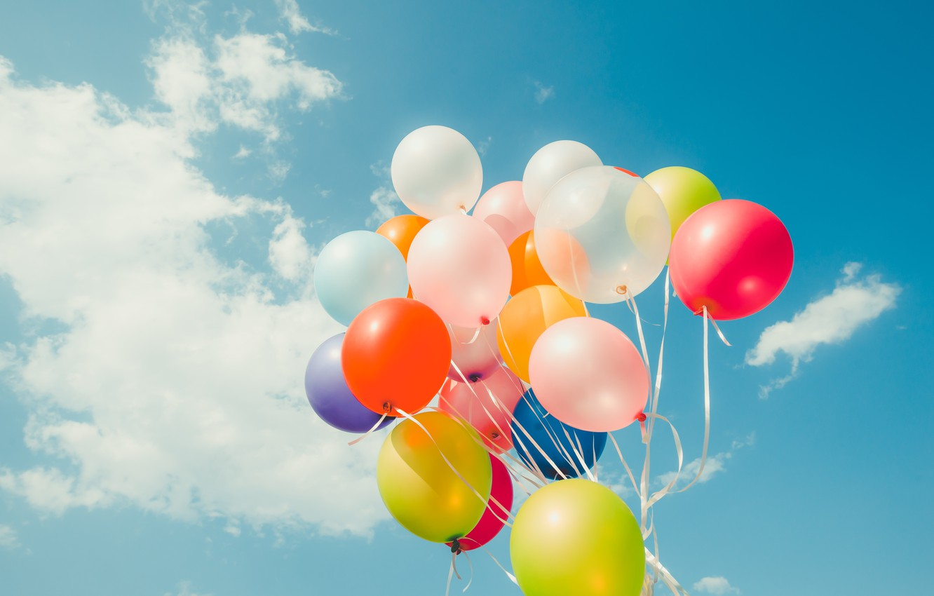 Wallpaper Summer The Sky The Sun Happiness Balloons Stay Colorful Summer Sunshine Happy Beach Vacation Balloon Images For Desktop Section Nastroeniya Download