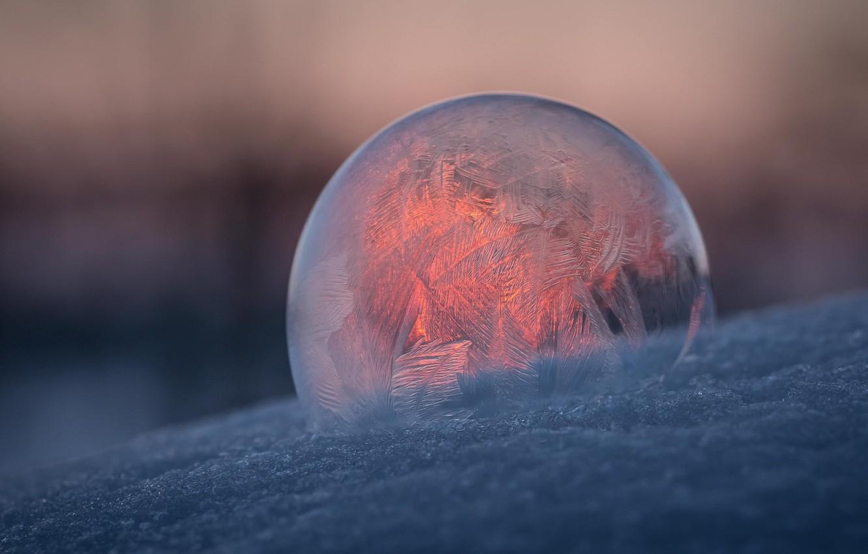Photo wallpaper pattern, ball, frost, bubble