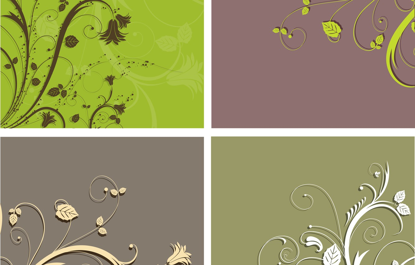 Photo wallpaper flowers, background, pattern, texture, backgrounds, ornament, floral