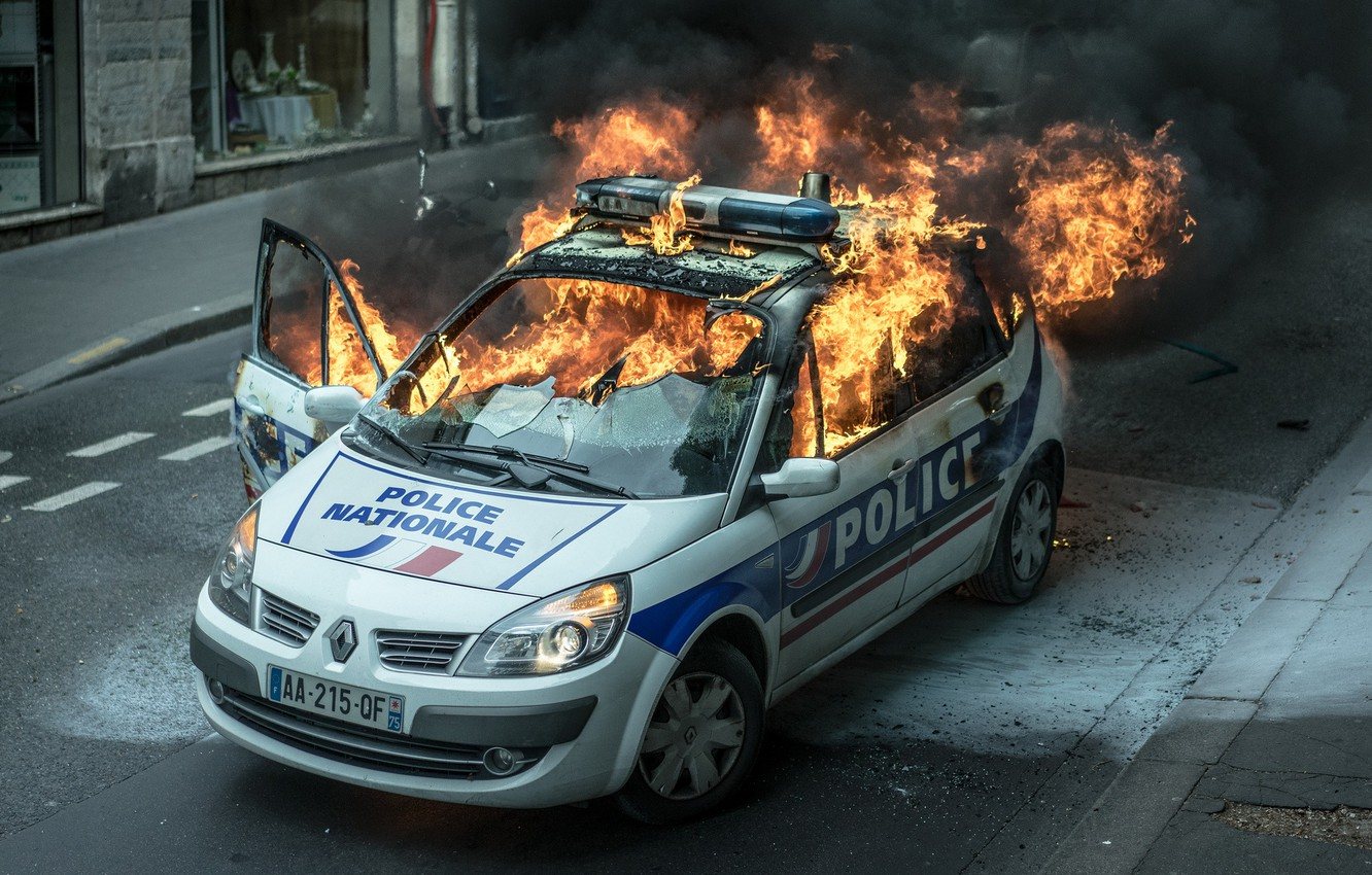 Wallpaper Fire Flame Street Car Police Images For
