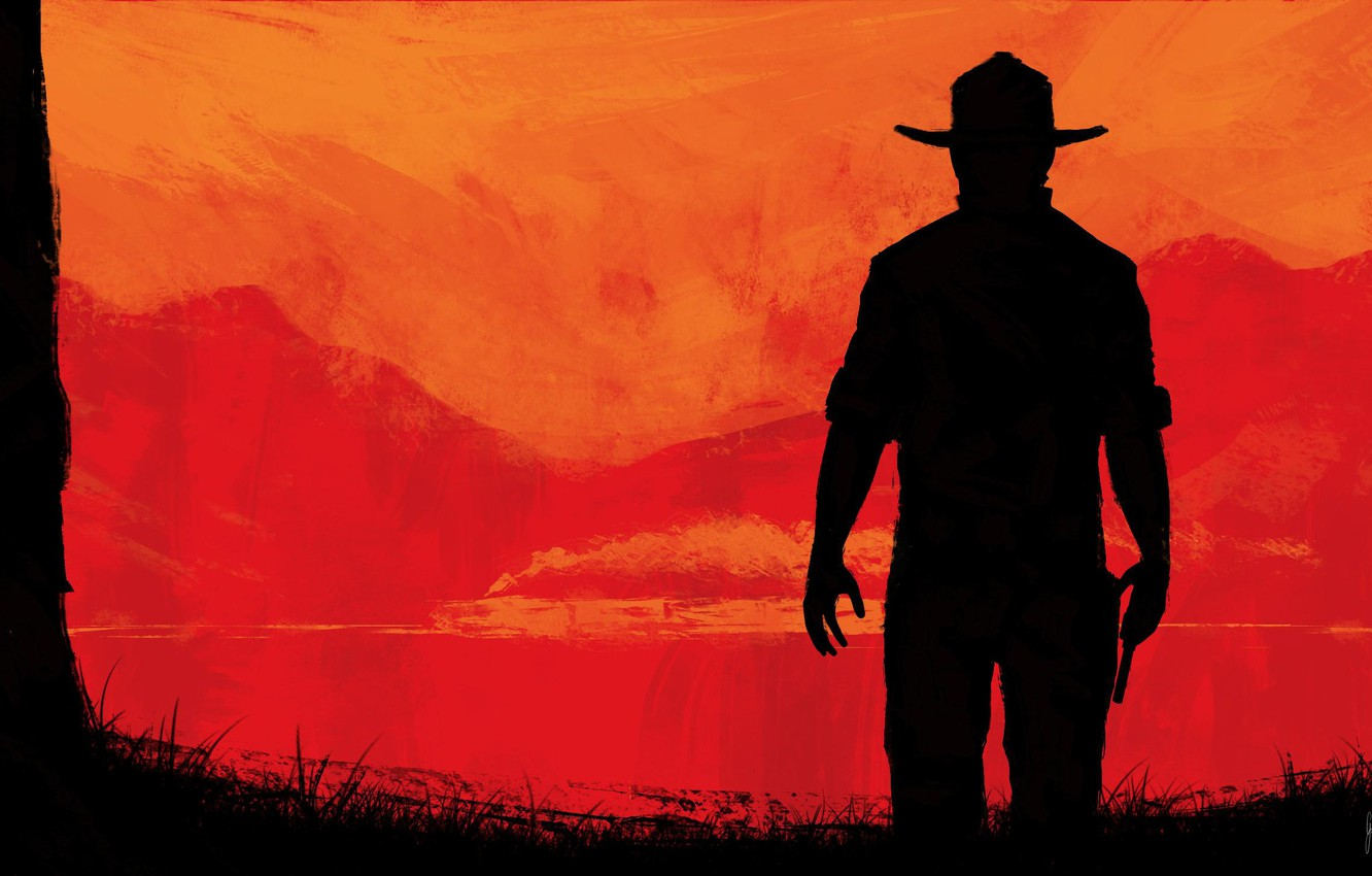 Wallpaper Cowboy Wild West Red Dead Redemption Rockstar