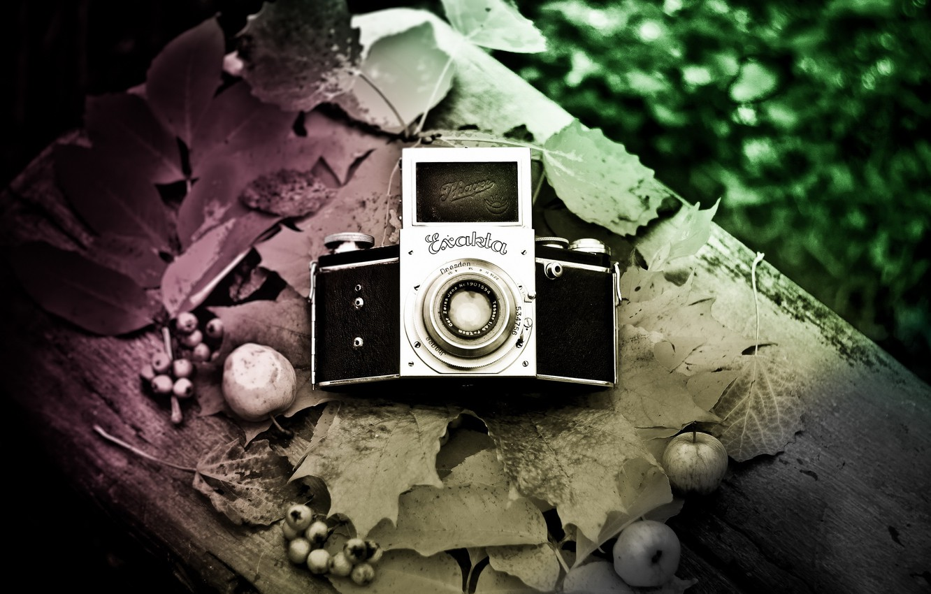Photo wallpaper background, camera, Exakta