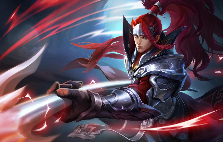 Photo wallpaper the game, art, hero, fantasy, skill, Han Xin