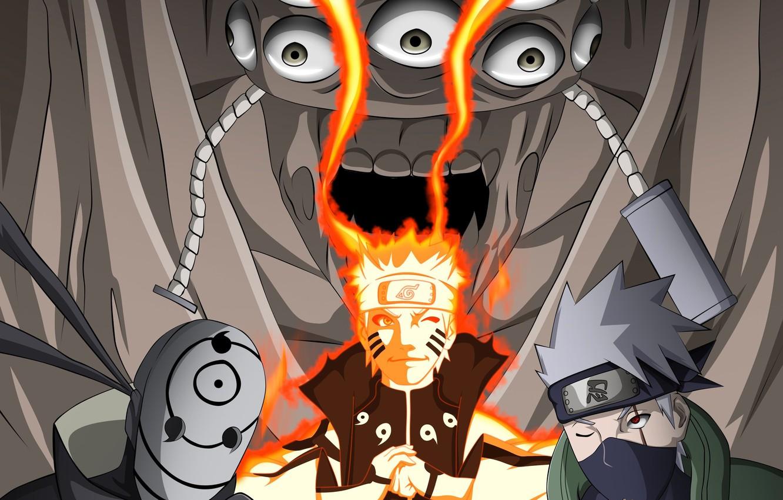 Photo wallpaper game, Naruto, anime, Ninja, Akatsuki, mask, manga,