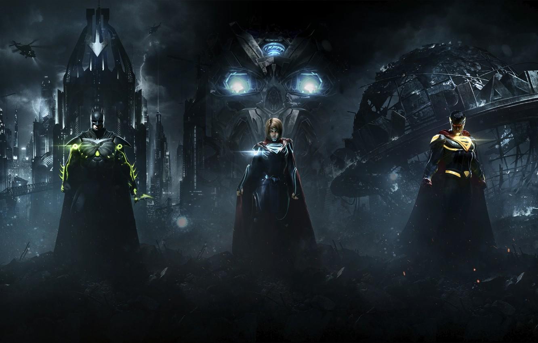 Wallpaper Batman, Superman, Supergirl, Warner Bros