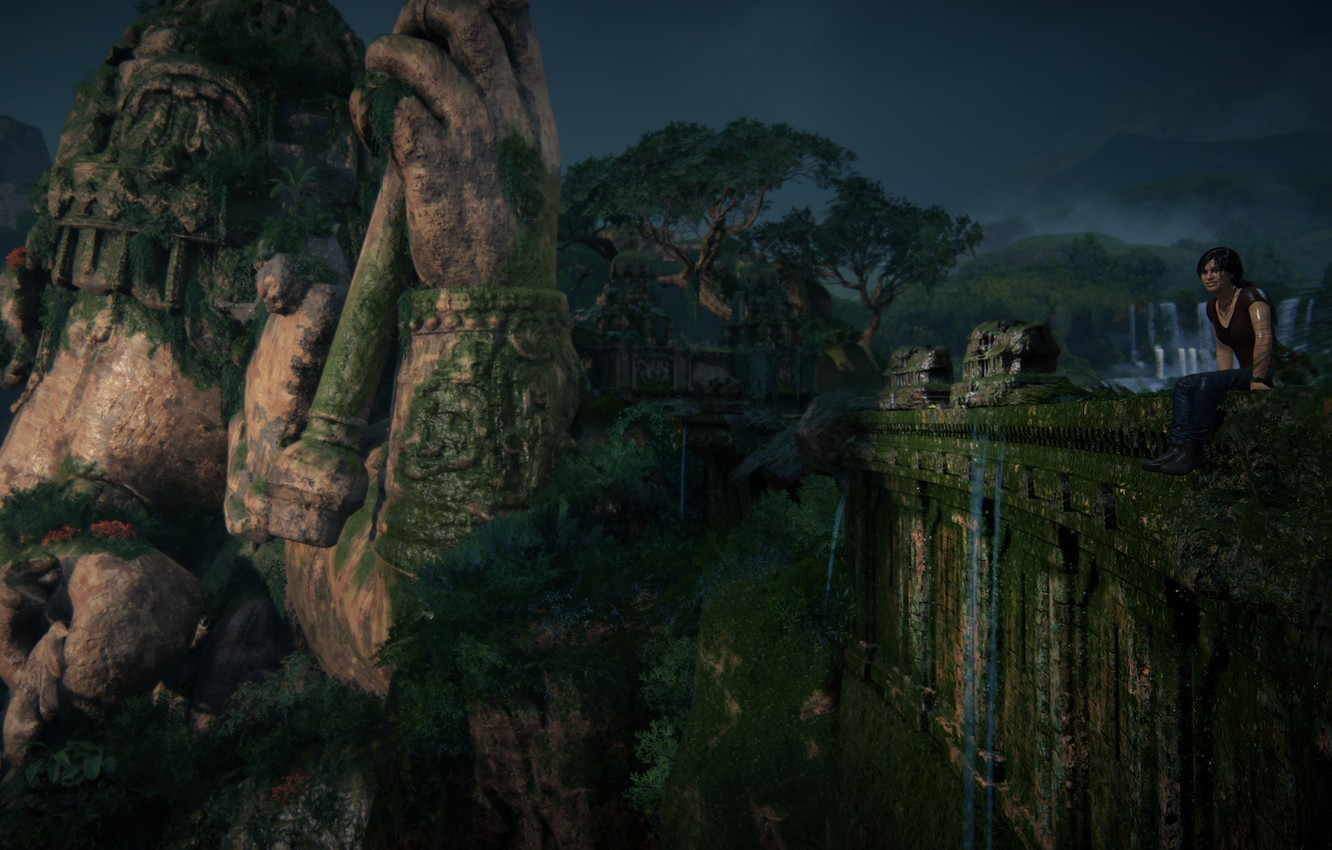 Wallpaper Nature Uncharted Statue Chloe Frazer Uncharted