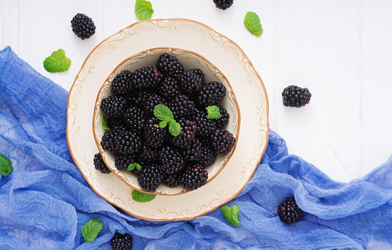 Photo wallpaper berries, fresh, BlackBerry, blackberry, berries