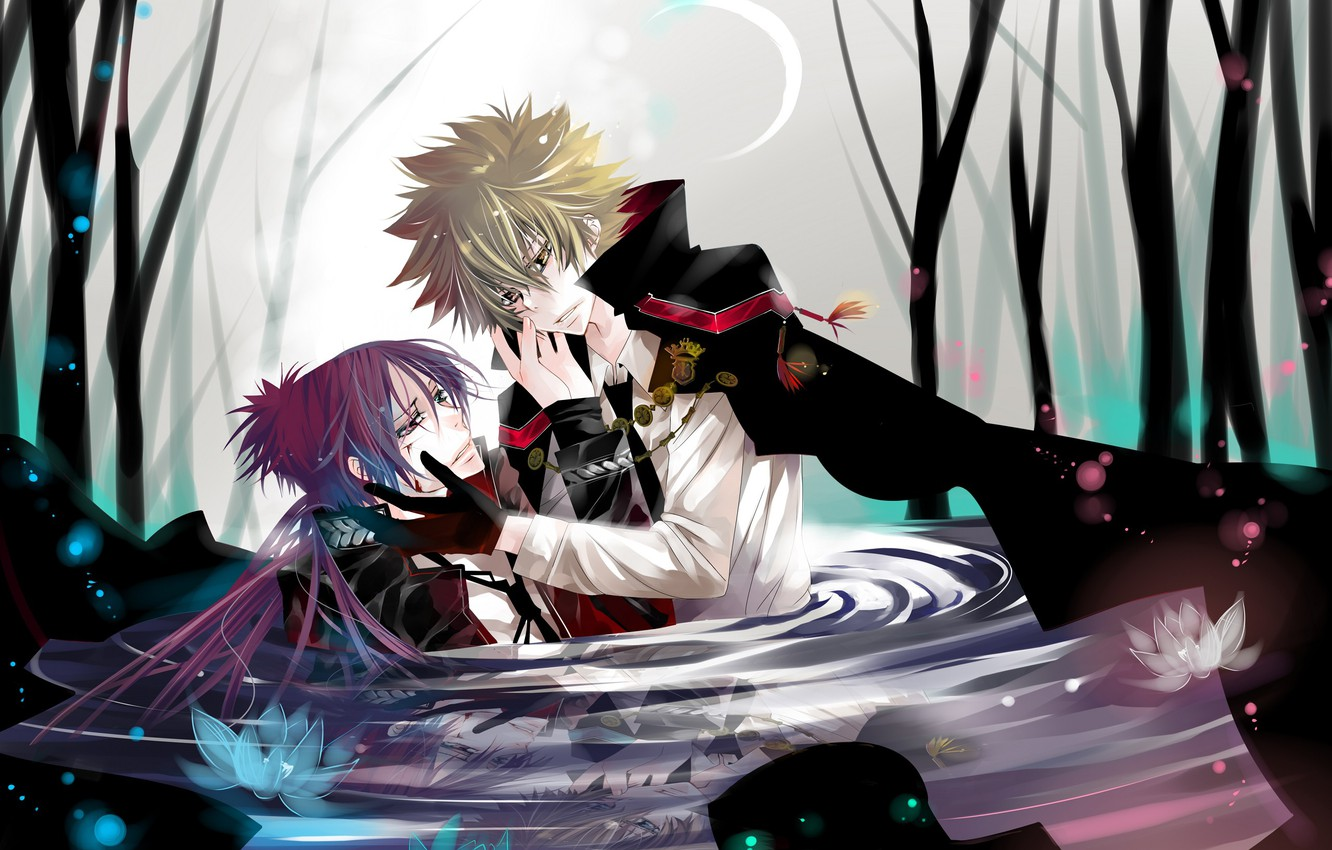 Wallpaper Water Anime Guys Two Rokudou Mukuro Katekyo Hitman