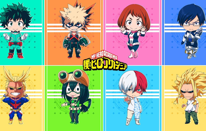 Photo wallpaper fire, girl, ice, mecha, anime, hero, manga, powerful, strong, yuusha, grenade, Boku no Hero Academy, …