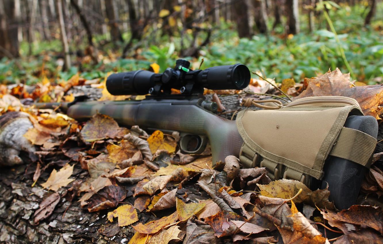 Photo wallpaper October, sniper rifle, sniper rifle, 2017