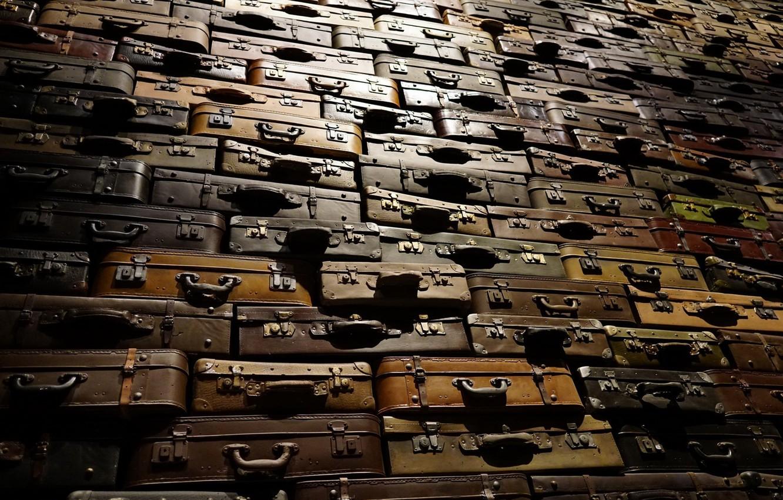 Photo wallpaper macro, background, suitcases
