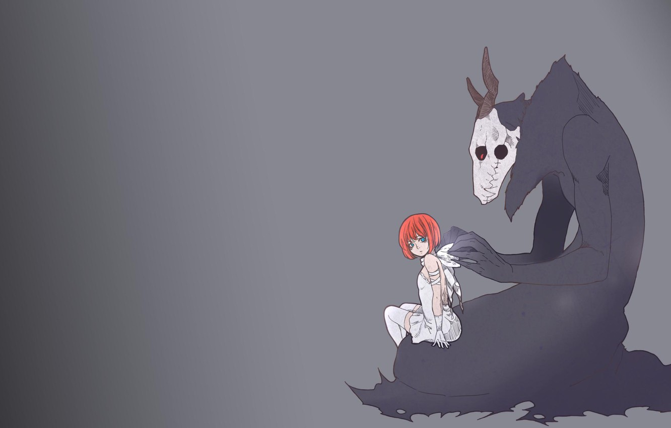 Wallpaper Sake Red Girl Love Red Hair Anime Redhead Witch