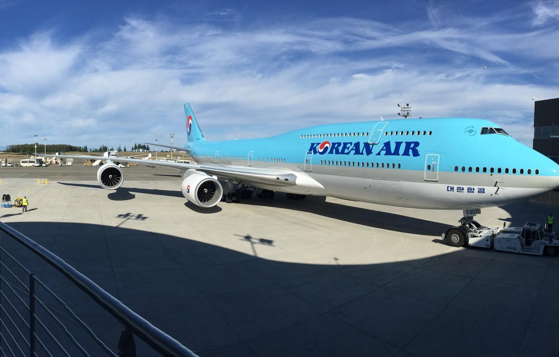 Photo wallpaper Boeing, Korea, Boeing, 747, Korea, 747-8, B747, Б747, B747-8, Korean air