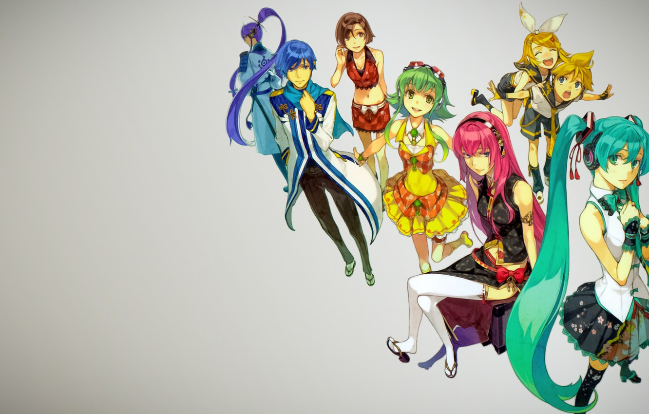 Photo wallpaper background, Vocaloid, Vocaloid, characters