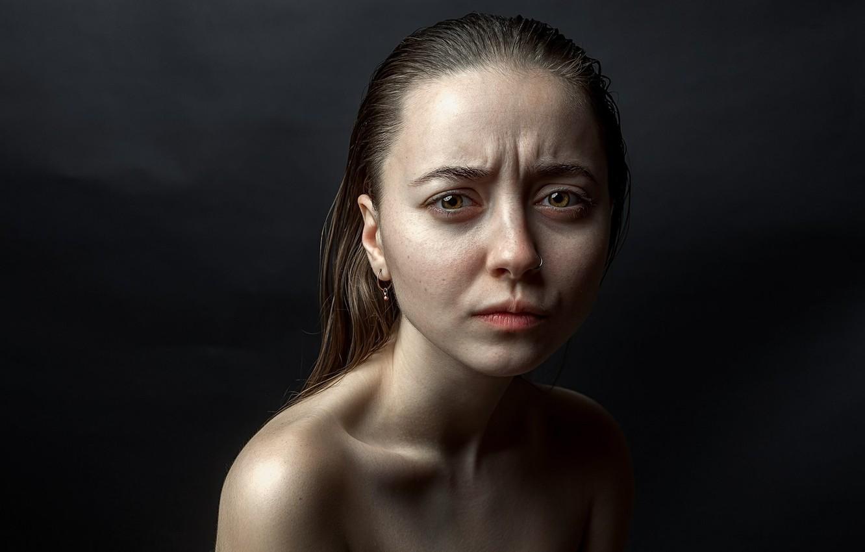 Photo wallpaper portrait, piercing, emotion, Real, Stepan Gladkov