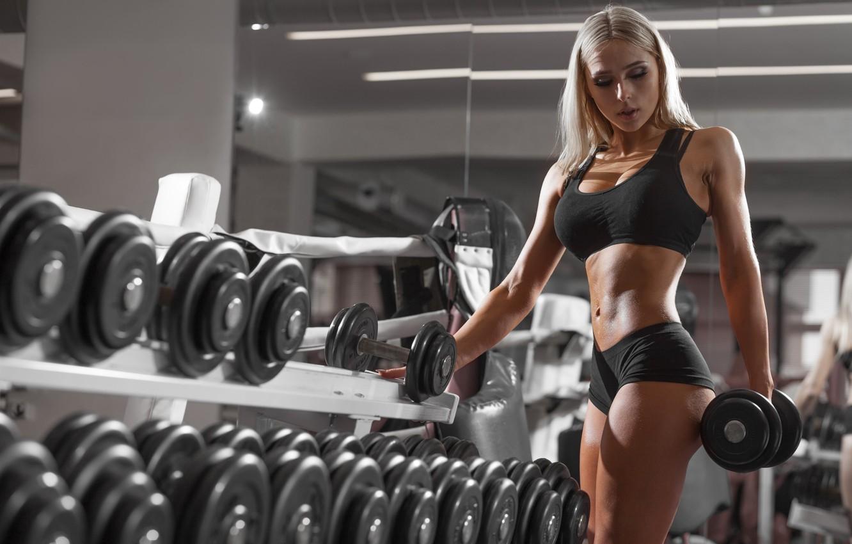 Wallpaper Girl Model Blonde Sports Fitness Gym Fitness