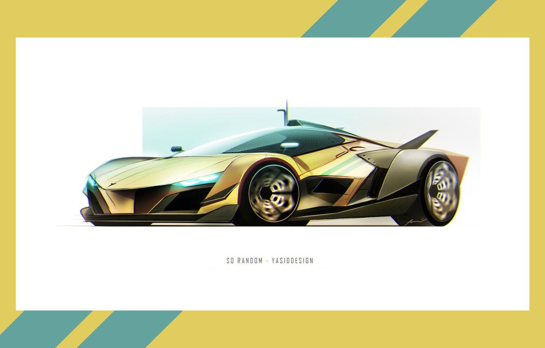 Photo wallpaper Auto, Figure, Frame, Machine, Car, Car, Art, Art, Rendering, Sci Fi, Yasid Design, Yasid Oozeear, …