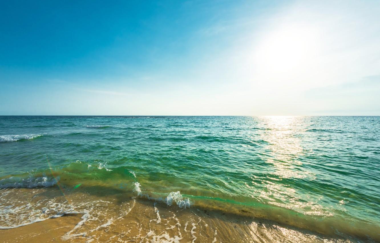 Photo wallpaper sand, sea, wave, beach, summer, summer, beach, sea, seascape, sand, wave