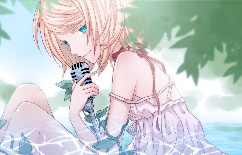 Photo wallpaper look, anime, art, girl, Vocaloid, Vocaloid