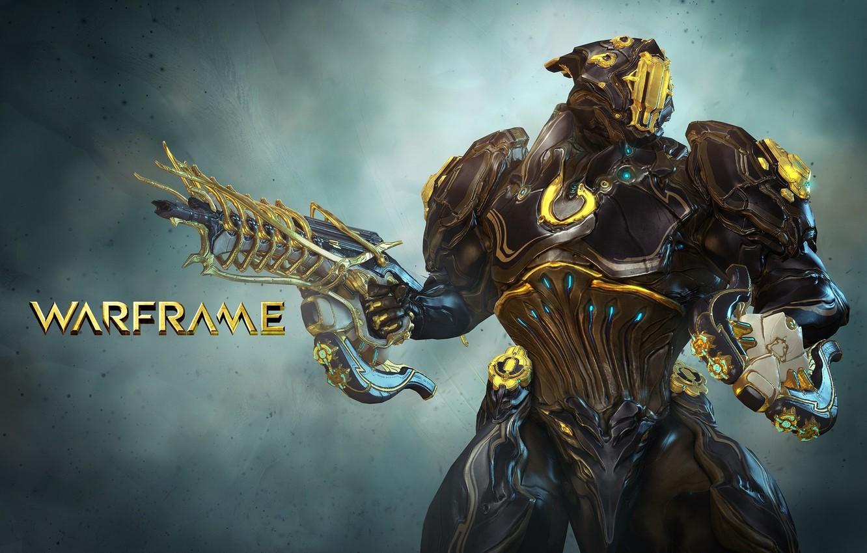 Photo wallpaper gun, game, armor, weapon, Warframe