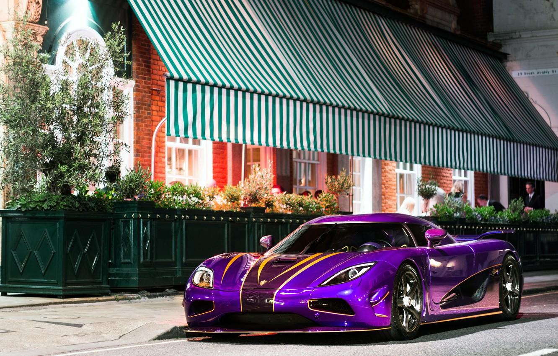 Photo wallpaper purple, Koenigsegg, car, Agera R
