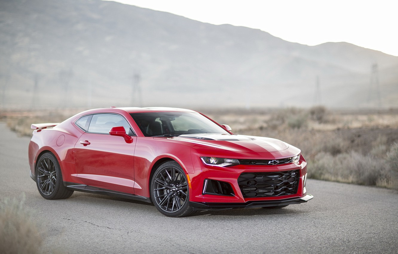 Photo wallpaper Chevrolet, Camaro, Red, ZL1