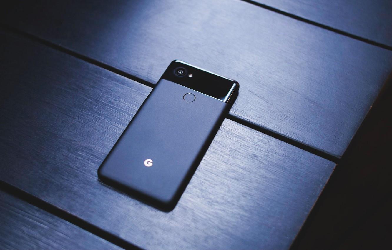 Photo wallpaper Google, Black, Pixel, Smartphone, 2 XL