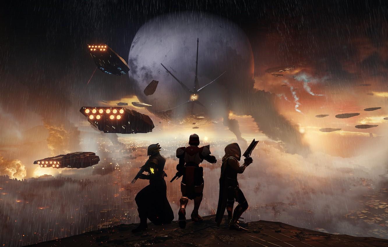 Photo wallpaper gun, pistol, game, weapon, Bungie, rifle, hunter, warlock, Destiny, titan, Destiny 2