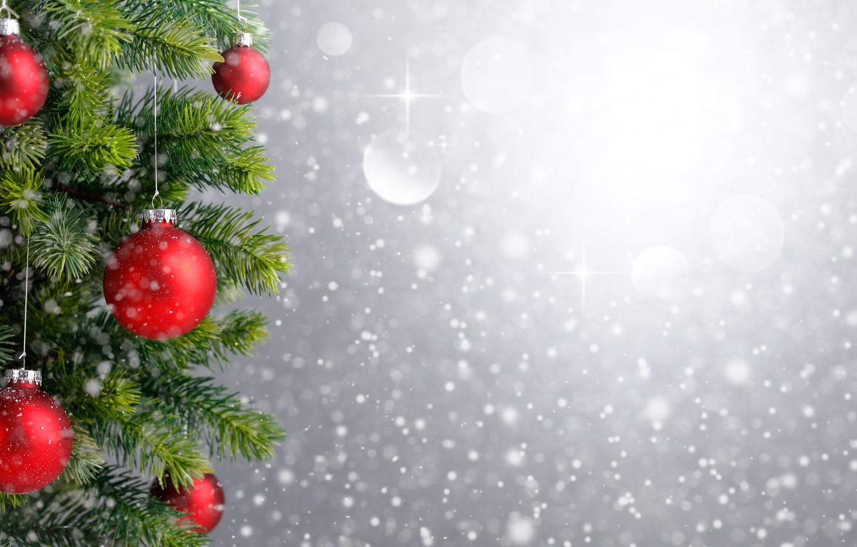 Photo wallpaper snow, decoration, balls, tree, New Year, Christmas, Christmas, balls, snow, Merry Christmas, Xmas, decoration