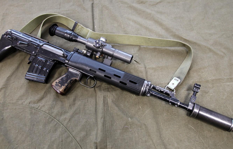 Photo wallpaper weapons, weapon, sniper rifle, sniper rifle, SVU-AS, SVU-AS