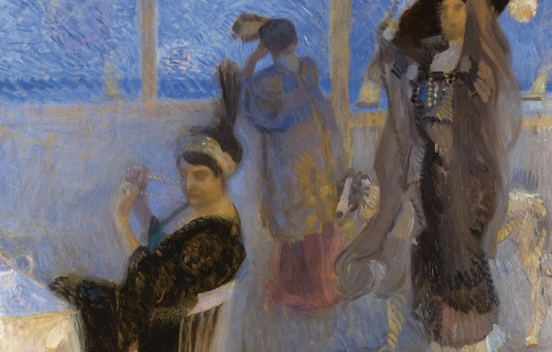 Photo wallpaper women, picture, genre, On The Terrace, Camillo Innocenti