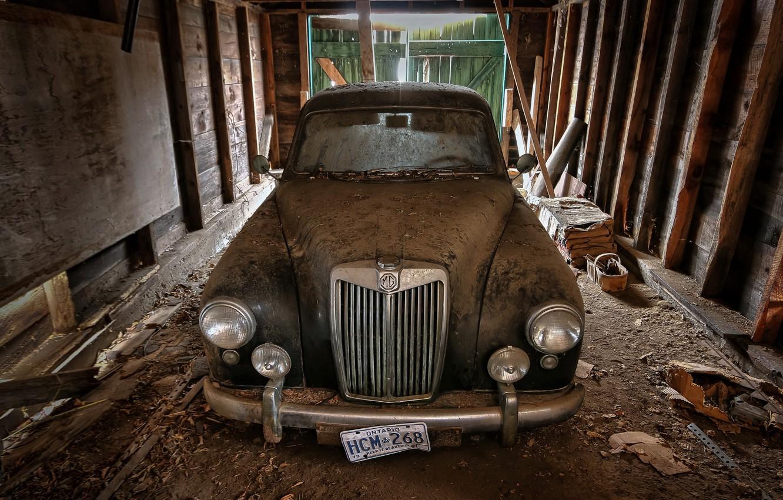 Photo wallpaper garage, 1957, MG Magnette ZB