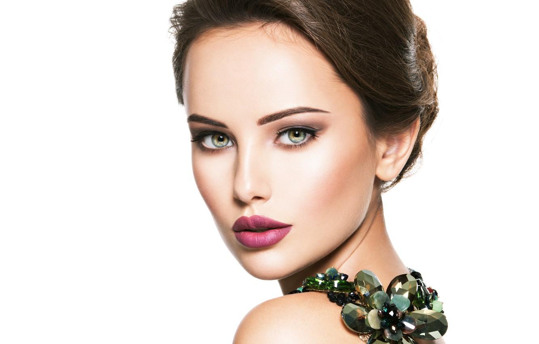Wallpaper girl, face, model, portrait, makeup, model