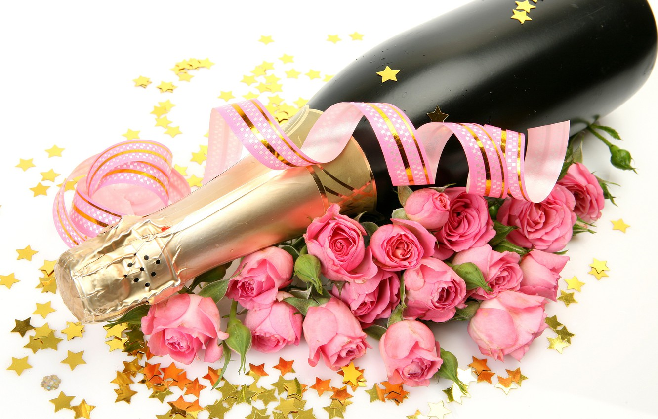 Pink Champagne Bouquet