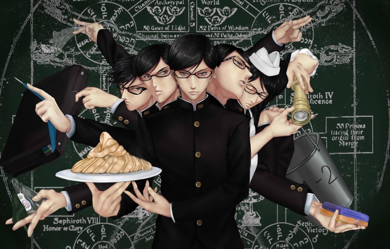 Wallpaper Anime Manga Japanese Seifuku Sakamoto