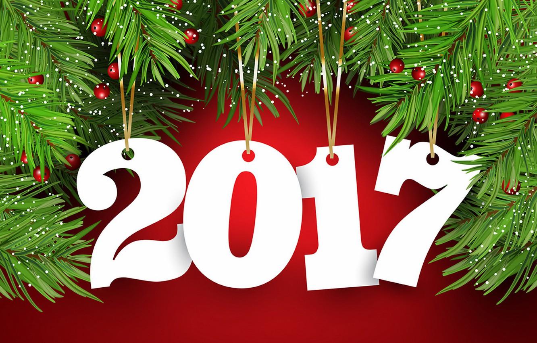 Photo wallpaper New Year, new year, happy, decoration, 2017, holiday celebration