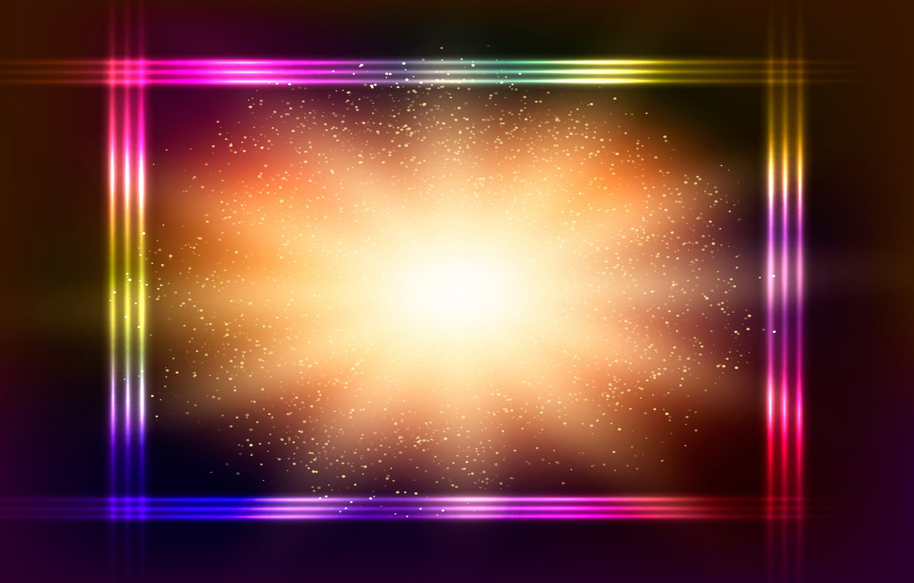 Photo wallpaper colorful, abstract, background, neon, glittering