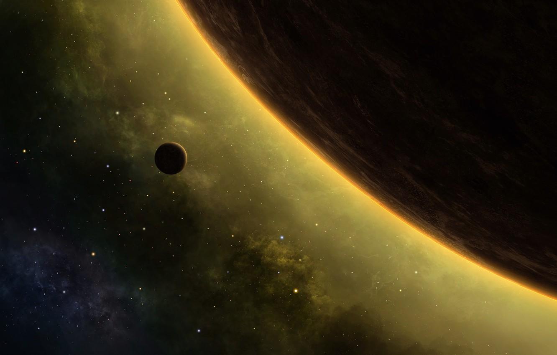 Wallpaper Space Moon Planet Nebula Stars Cosmos Galaxy