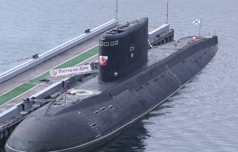 Photo wallpaper boat, underwater, diesel, The Black Sea Fleet, the project 636.3, Rostov-on-don