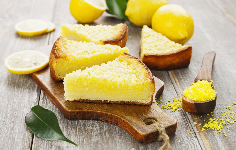 Photo wallpaper pie, lemons, cakes