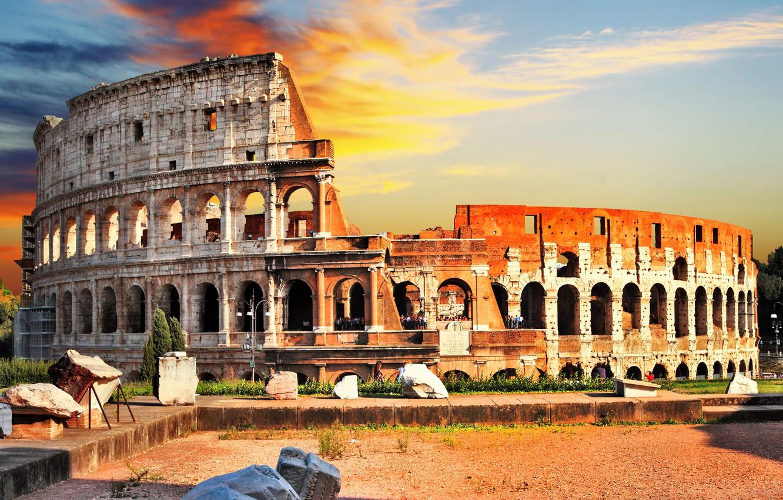 Photo wallpaper summer, the city, blur, Rome, Colosseum, Italy, Italy, bokeh, Colosseum, Rome, view, travel, wallpaper., Anfiteatro …
