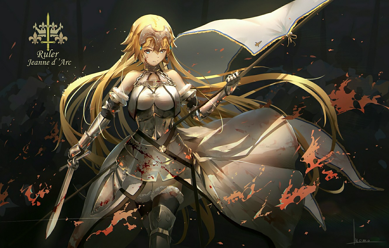 Photo wallpaper look, girl, armor, anime, warrior, art, Fate/Apocrypha