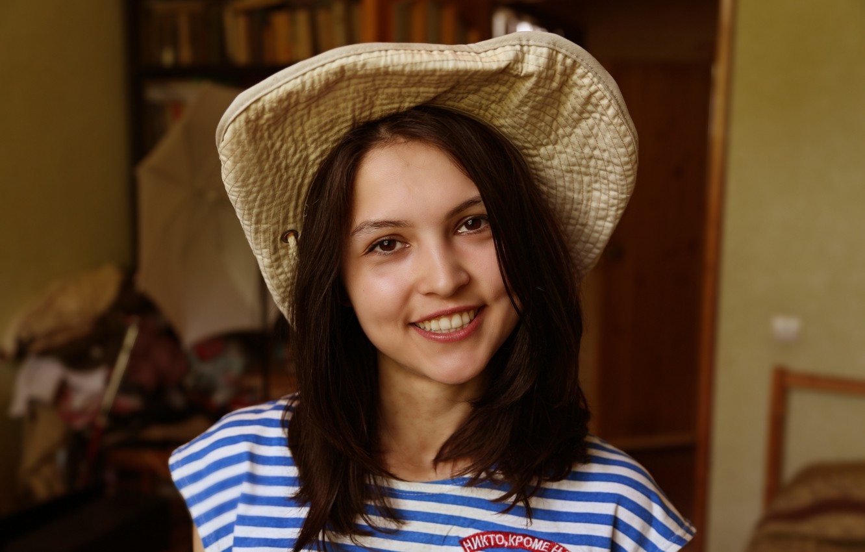 Photo wallpaper girl, beautiful, May 9, military uniform, Victory day, Emily Rain, Kide Fotoart