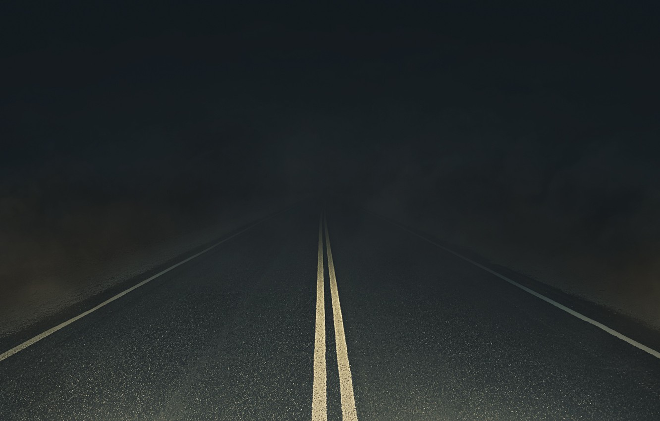 Wallpaper Road Night Wallpaper Darkness Art Void The Author S Work Road To Nowhere Long Road Night Road Night Desert Images For Desktop Section Minimalizm Download