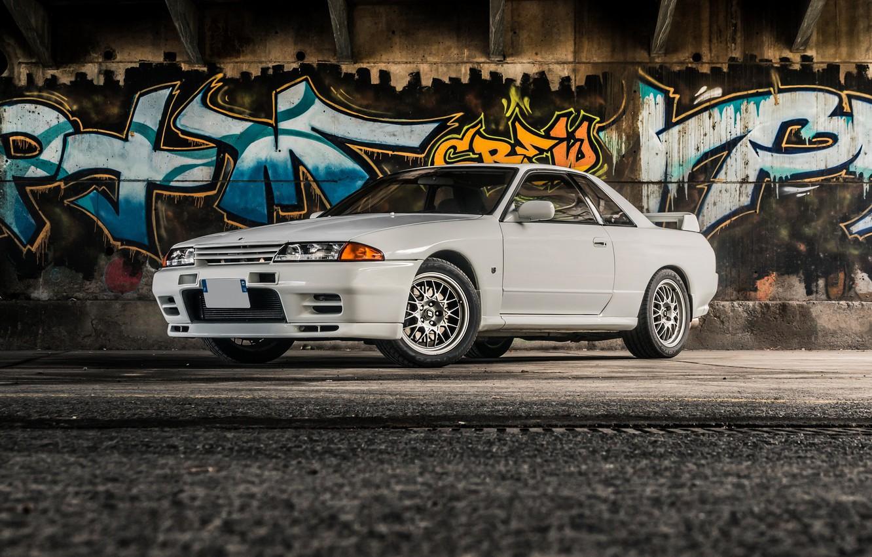 Photo wallpaper GTR, Nissan, R32, Skyline, V-Spec