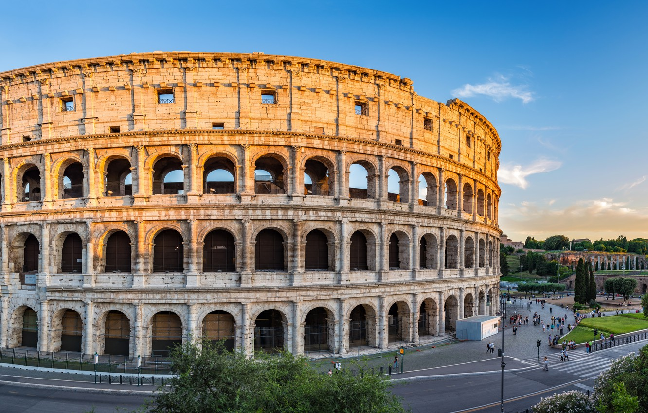 Photo wallpaper city, the city, Rome, Colosseum, Italy, Italy, panorama, Europe, view, Colosseum, Rome, travel