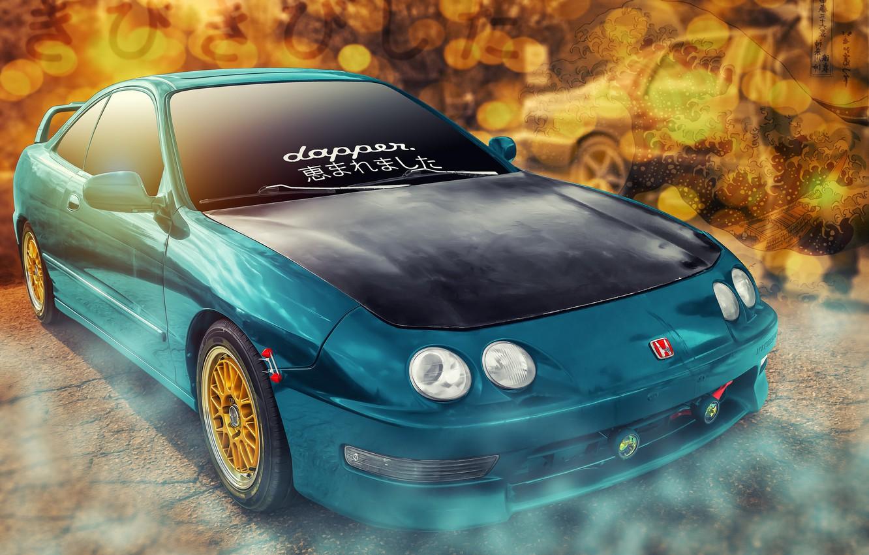 Photo wallpaper background, car, Honda Integra