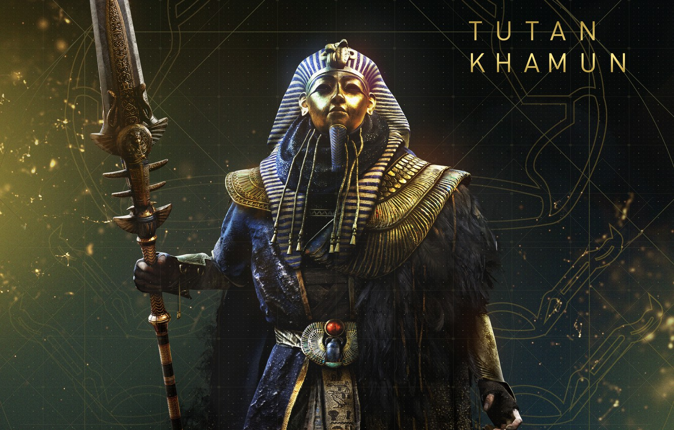 Photo wallpaper Tutankhamun, The Curse Of The Pharaohs, Assassin's Creed Origins, The curse of the pharaohs